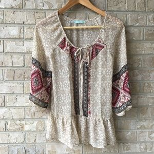 Maurices BOHO Hippie Top Semi Sheer XS